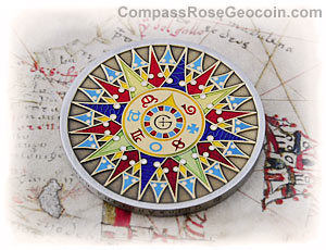 The Compass Rose Geocoin 2008