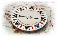 2005 Compass Rose Geocoin