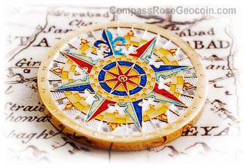 2007 Compass Rose Geocoin