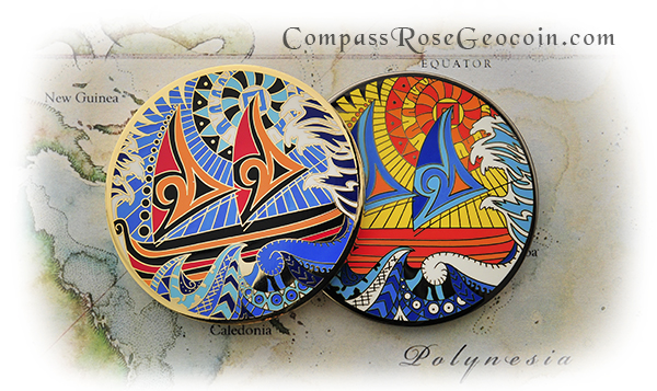 Polynesian Compass Rose Back Versions