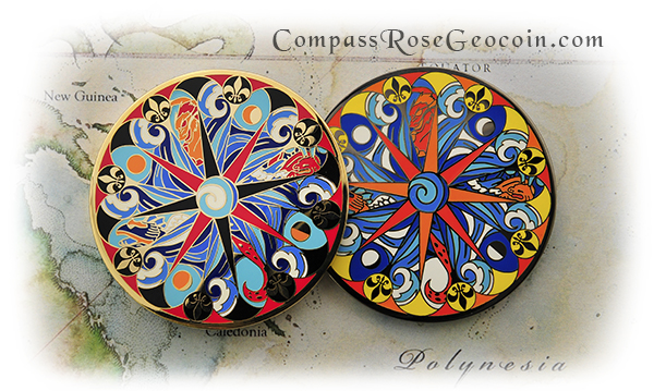 Polynesian Compass Rose Front Versions