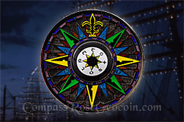 Black Sea Compass Rose 5th Anniversary Geocoin