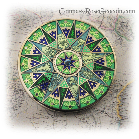 Compass Rose Geocoin 2012 Cape of Good Hope