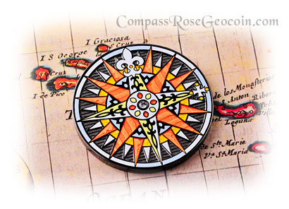 Compass Rose Geocoin 2010 Graciosa