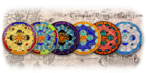 2011 Compass Rose Geocoin all versions