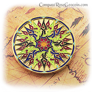 Compass Rose Geocoin 2011 Dawn To Dusk