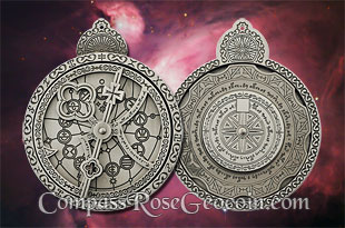 Antique Silver Cosmolabe Geocoin