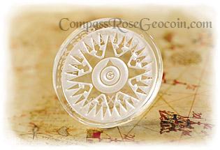 Glacier Ice Crystal Compass Rose Geocoin