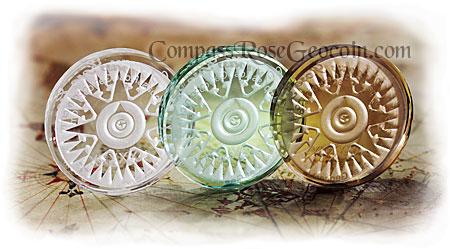 Crystal Compass Rose Geocoin